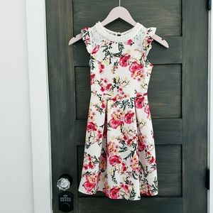 Girls floral dress sz 10